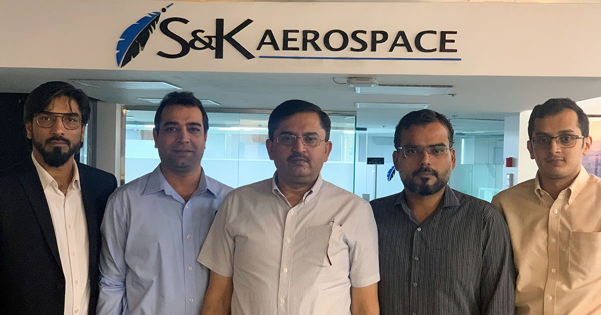 Members of the S&K Aerospace Middle East Branch finance team.