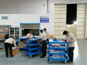 S&K Aerospace Middle East Branch warehouse workers